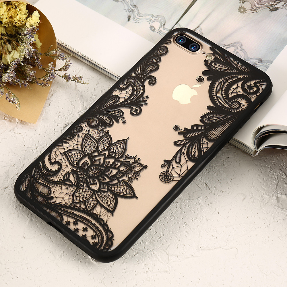 Lace Floral Iphone 6 6s 7 Plus 5s Se Cases Lady Girly Matte Hard