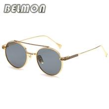 Fashion Sunglasses Women Men Retro Round Brand Designer Sun Glasses For Ladies Classic Vintage UV400 Female Male 0 RS324