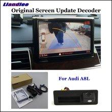 Liandlee Car Original Screen Update System For Audi A8 A8L (High) Rear Reverse Parking Camera Digital Decoder Display Plus for audi a8 a8l emblem rear chrome oem quality 4e0853741a2zz