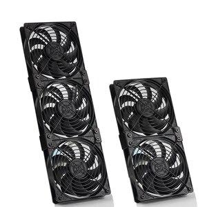 Image 2 - 220 فولت سرعة الصناعية حافظة خزانة عالية الجودة asic جهاز تعدين بيتكوين برودة تبريد المياه المبردة صف pc 120 مللي متر مروحة راوتر المبرد