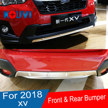 For SUBARU XV GT3 GT7 2017 2018 304 Stainless Steel Front Rear Bumper Skid Protector Guard Plate Cover Trims 2pcs Car Styling