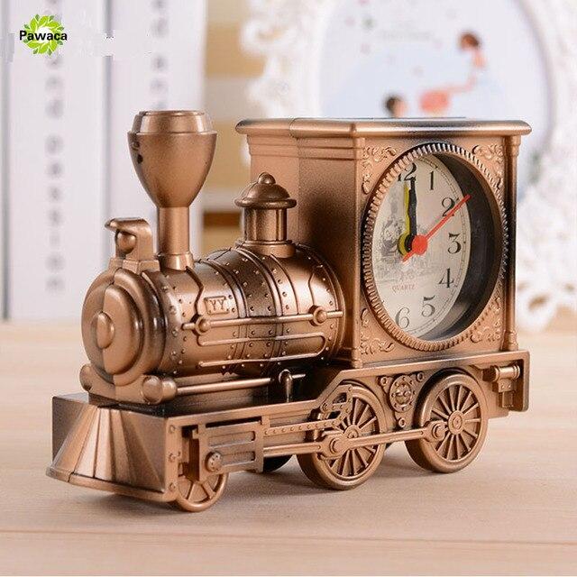 Hommes Rétro Train Bureau De Bureau D alarme Horloge D anniversaire