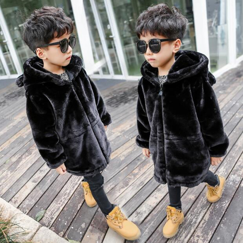 Detail Feedback Questions About Furry Girls Boys Faux Rabbit Fur Coat 2018 Autumn Winter Warm Clothes Children Kids Baby Outerwear Jacket Cotton Clothing