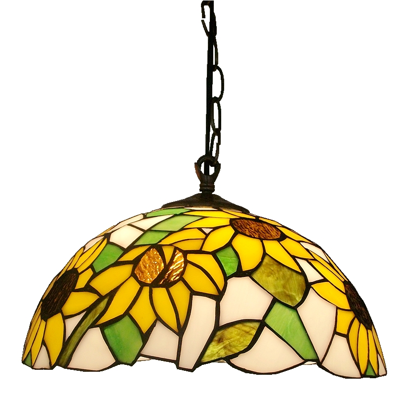 30CM yellow sunflowers Cafe Continental Nordic chandelier Tiffany stained-glass table lamps Kitchen lighting Aisle windows