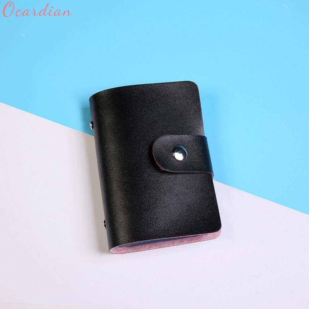 Fabuleux hommes femmes cuir porte-carte de crédit portefeuille porte-cartes carte de visite 322510 ##418