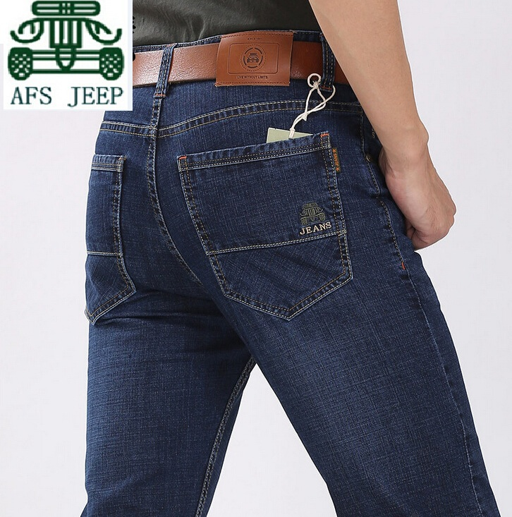 AFS JEEP 2 Spandex and 79 Cotton Real Men s Summer Elasticity Casual Jeans Real Man
