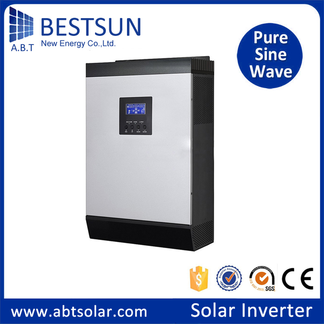 BPS-1000M high frequency off-grid pure sine wave MPPT25 charger dc 24v 1KVA hybrid solar inverter AC charge current 20A