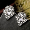 2016 New Design Vintage Triangle Crystal Stud Earrings For Women Charm Jewelry Factory Wholesale