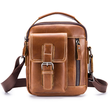 Messenger Bag Men's Genuine Leather Shoulder Bag For Men Cow Leather Small Flap Vintage Crossbody Bags Male Top-handle Handbags genuine leather men bag fashion vintage real cow leather men shoulder bag leisure male crossbody messenger bag small bag men