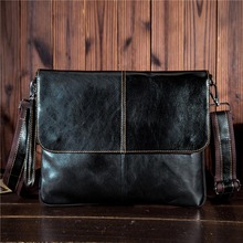 YISHEN Fashion Genuine Leather Men Crossbody Bags Solid Cover Male Travel Shoulder Bags Business Casual Men