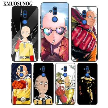 For Huawei Honor Mate 7C 7A 8 8X 9 9N 10 20 Nova 3 3e 3i  Pro Lite Black Silicon Phone Case Anime Bleach One Punch Man Style