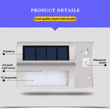 2 LED Solar Powered Wall Lamp Energy Saving LED Powered Wall Outdoor Garden Pathway Street Stairs Waterproof IP55 Security Light 1 2 4 pcs 8 led solar powered ground light grass lamp outdoor pathway garden decking waterproof solar powered light
