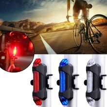 Luz de bicicleta LED luz trasera de seguridad trasera luz de advertencia de ciclismo Luz Portátil estilo USB recargable bicicleta de montaña TSML1