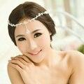 Luxury Crystal Bridal Frontlet Hair Clip Rhinestone Wedding Head Chain Crown Circlet Headband Headpieces Hair Jewelry WIGO0141