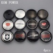 цена на Black 4pcs 74/69mm vossen logo sticker hre emblem wheel work hubcap car styling oz center caps volk badge cover cap for Mercedes