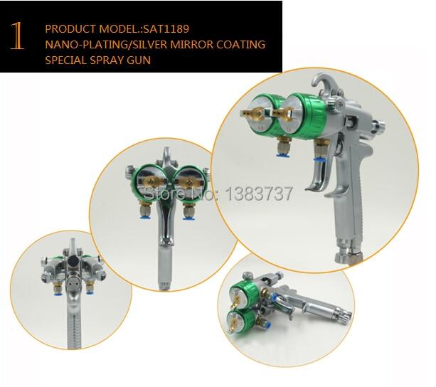 SAT1189 maalritööriistade kvaliteetne kahekordse pihustiga pihusti - Elektrilised tööriistad - Foto 3