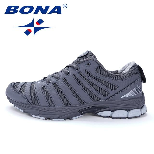 f001eedd59e BONA Novo Bassics Homens Estilo de Corrida Sapatos de Caminhada Ao Ar Livre  Tênis de Corrida
