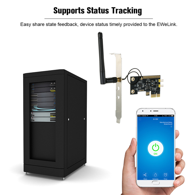 EWeLink מיני PCI e שולחן העבודה מחשב שלט רחוק מתג אתחול כרטיס WiFi אלחוטי חכם מתג להפעיל/כיבוי ממסר מודול מתג הפעלה מחדש