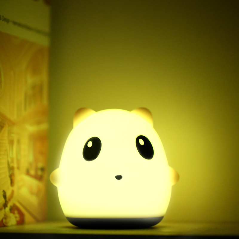Us 26 95 Led Nursery Lamp Panda Toy Nightlight Desk Lighting Kids Soft Silicone Touch Safe Usb Rechargeable Night In Lights From