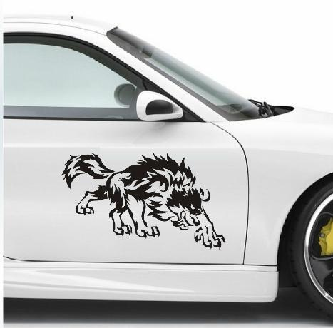 Custom wolf car decals stickers automotive graphics for car door hood 40cm24cm