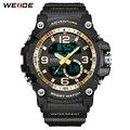 ︻WEIDE luxury analog Digital double display watch srainless steel ...