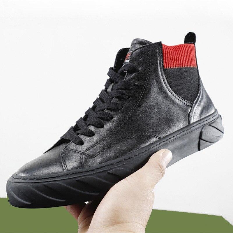 Respirant Rétro Hommes Chelsea Hiver Chaussures Britannique Tout Bottes Martin Vache Nouvelle Sport De Baskets allumette Automne K5l3cuTF1J