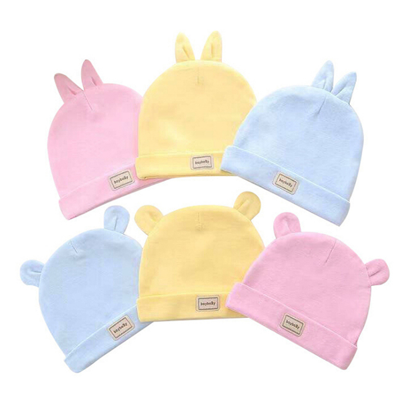 1 Pcs Cotton Headscarf Baby Caps&hats With Baby Bibs Set Pink ,yellow And Blue Color For Newborn Infant