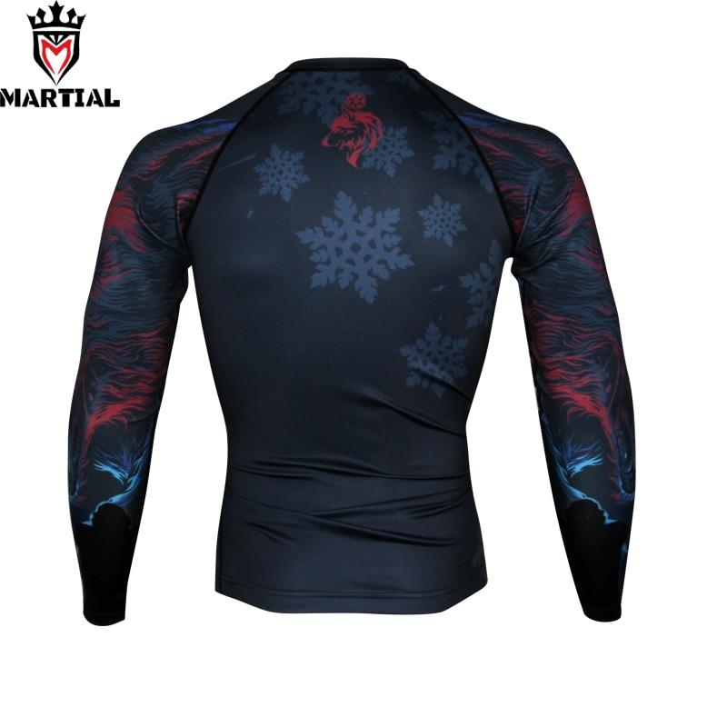 Martial :  Winter Is Coming Printed Full Length Rashguards Fitness Mma Boxing Jersey  RASHGUARDS Running T Shirts Men