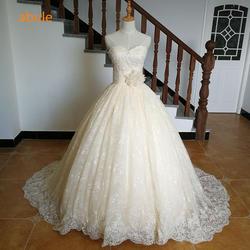 Abule Милая торжественное платье Турция кружевными цветами Роскошные свадебные платья Реальные пото Плис Размер Vestido De Noiva 2017