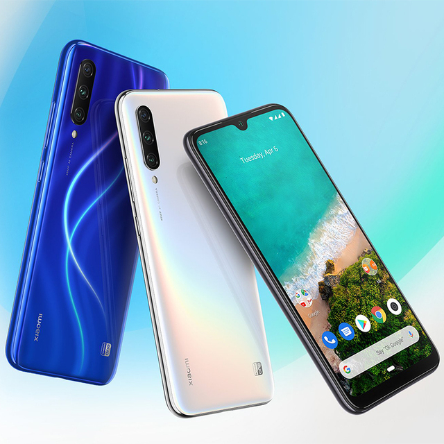 Global Version Xiaomi Mi A3 MiA3 4GB 64GB Mobile Phone Snapdragon 665 48MP Triple Cameras 32MP Front Camera 6.088 AMOLED Display 4