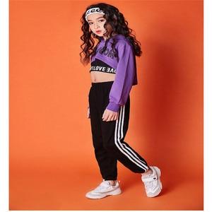 Image 2 - בנות clothings בגדי 10 12 שנה ארוך שרוול ג אז ריקוד תלבושות לילדים היפ הופ הסווטשרט למעלה תלבושות ילדים בנות