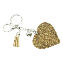 Fashion Car  Full  Rhinestone Heart Key Chain Gold Silver Chain Keychain Bag Car Hanging Pendant Jewelry Hot 2018 New new fashion women heart rhinestone keychain pendant car key chain ring holder jewelry exquisite gifts m23