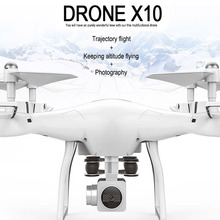 WIFI FPV attitude hold real time RC drone X10 S10 2.4G headless  aerial remote control helicopter RC aircraft HD 1080P carema aerial remote control helicopter t30cw 2 4g adjust speed professional wifi fpv real time rc drone with 720p adjustable camera