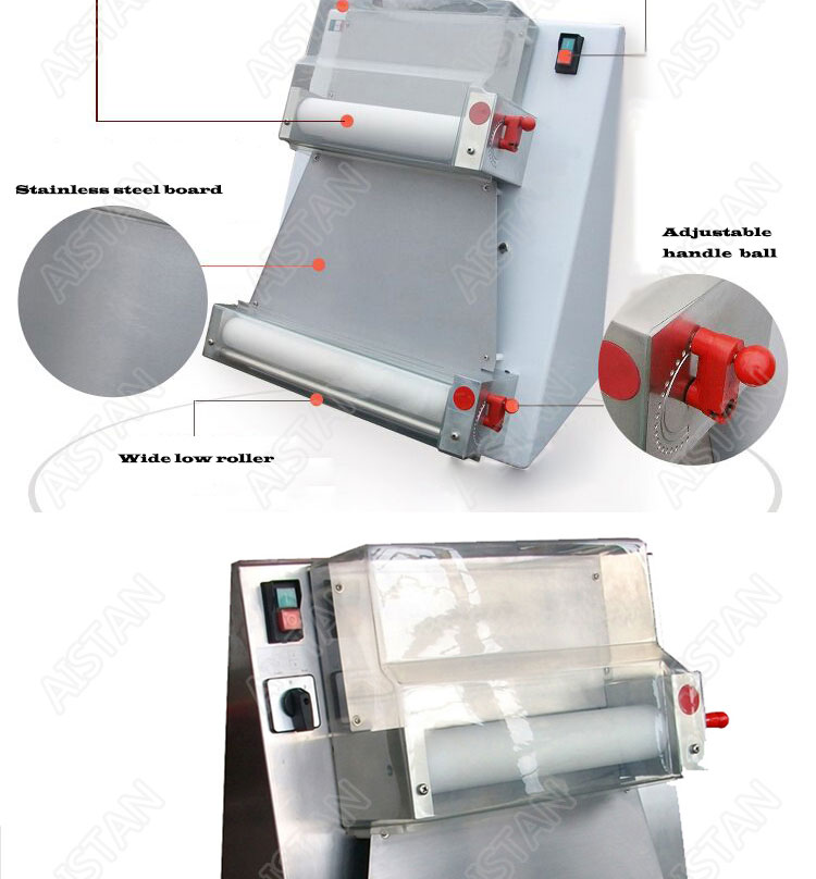 DR1V/DR1V-FP electric counter top stainless steel pizza dough roller machine pizza making machine dough sheeter 5