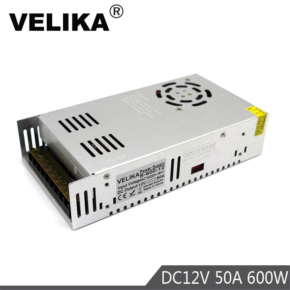Single Output Small Volume 600W 12V 50A power supply Switching Transformers AC110V 220V TO DC12V SMPS