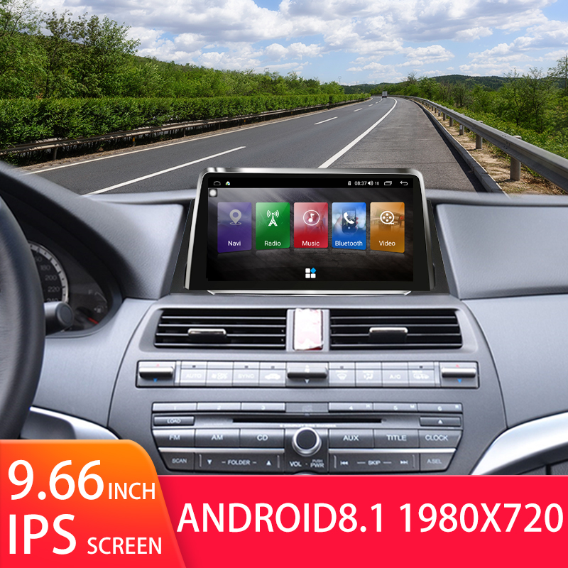 Android 8 1 car DVD multimedia video player GPS navi large screen center console machine for Honda eight generation Accord 8th in Car Multimedia Player from Automobiles Motorcycles