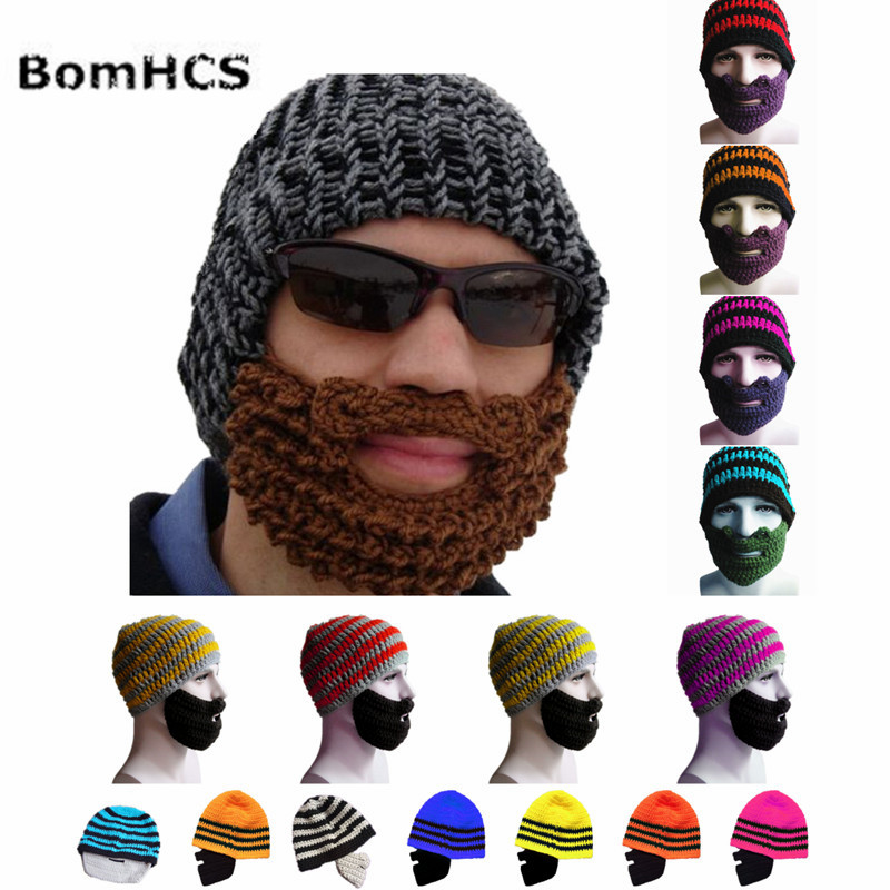 757765f7f15 BomHCS Men's Winter Thick Warm Cable Knit Beanie Hat 100% Handmade Cap