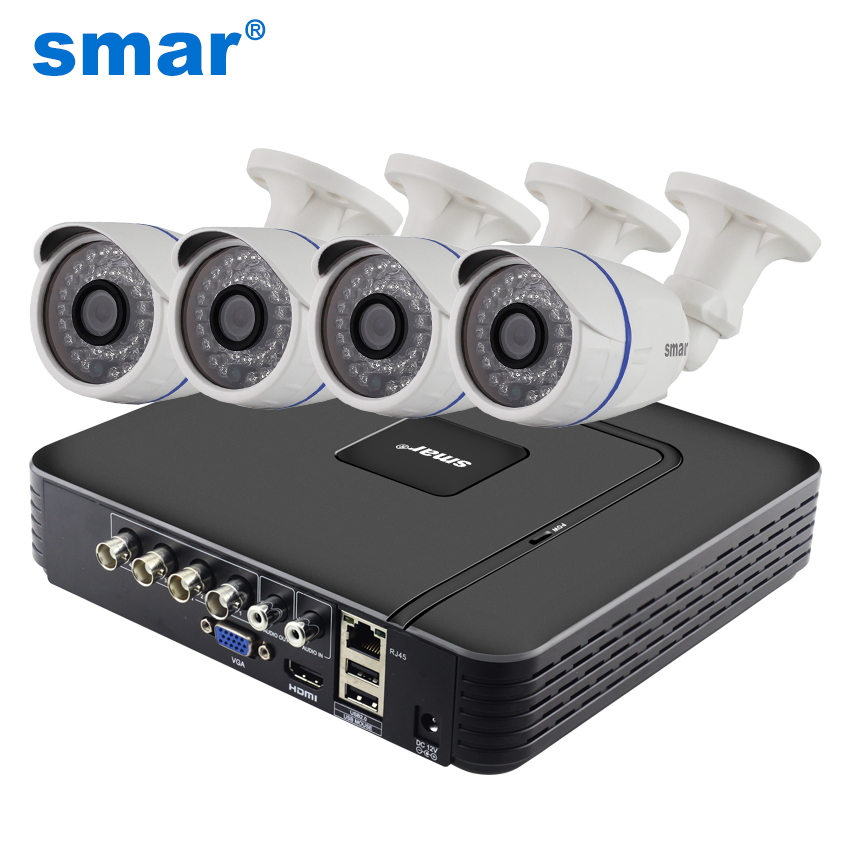 4CH Security Camera System 960H CCTV DVR HDMI 4pcs 1000TVL IR Weatherproof Outdoor Security Camera Surveillance System Kits 4ch cctv system 1080p hdmi ahd 4ch cctv dvr 4pcs 1 3 mp ir outdoor security camera 960p waterproof camera surveillance system