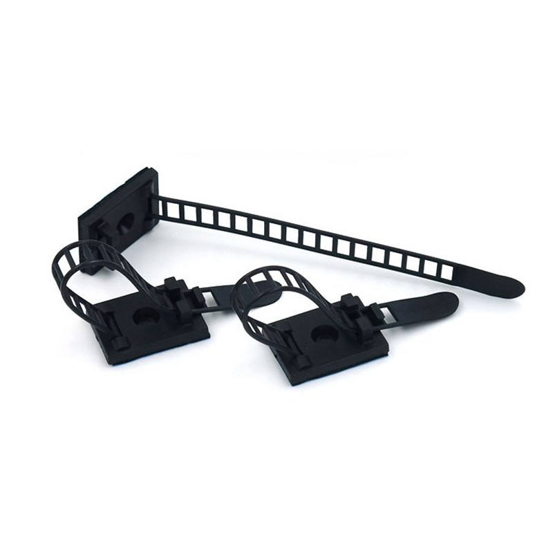 KEITHNICO 20Pcs Black Sticky Adjustable Wire Ties Cable Clips Clamp Plastic Self Adhesive Fix Holder In Winder From Consumer