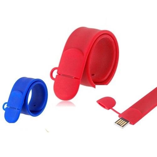 Full Capacity Wrist USB Flash Drive Pen Drive 32GB 16GB 8GB Pendrive 64GB 128GB 512GB Bracelet Waterproof Memory Stick 256GB 2.0