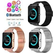 Z60 Smart Watch Men With Bluetooth Phone Call 2G GSM SIM TF Card Camera Smartwatch Android relogio inteligente PK DZ09 Relogio
