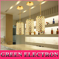 3pcs Set Restaurant Lamp Chandelier Modern Creative Single Head Pendant Lamp Dining Room Corridor Bar Crystal