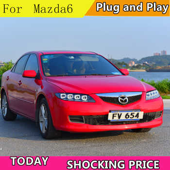 Car Styling for Mazda 6 full LED Headlights 2004-2014 Mazda6 LED DRL LED High Low Beam Headlight with dynamic turn signal