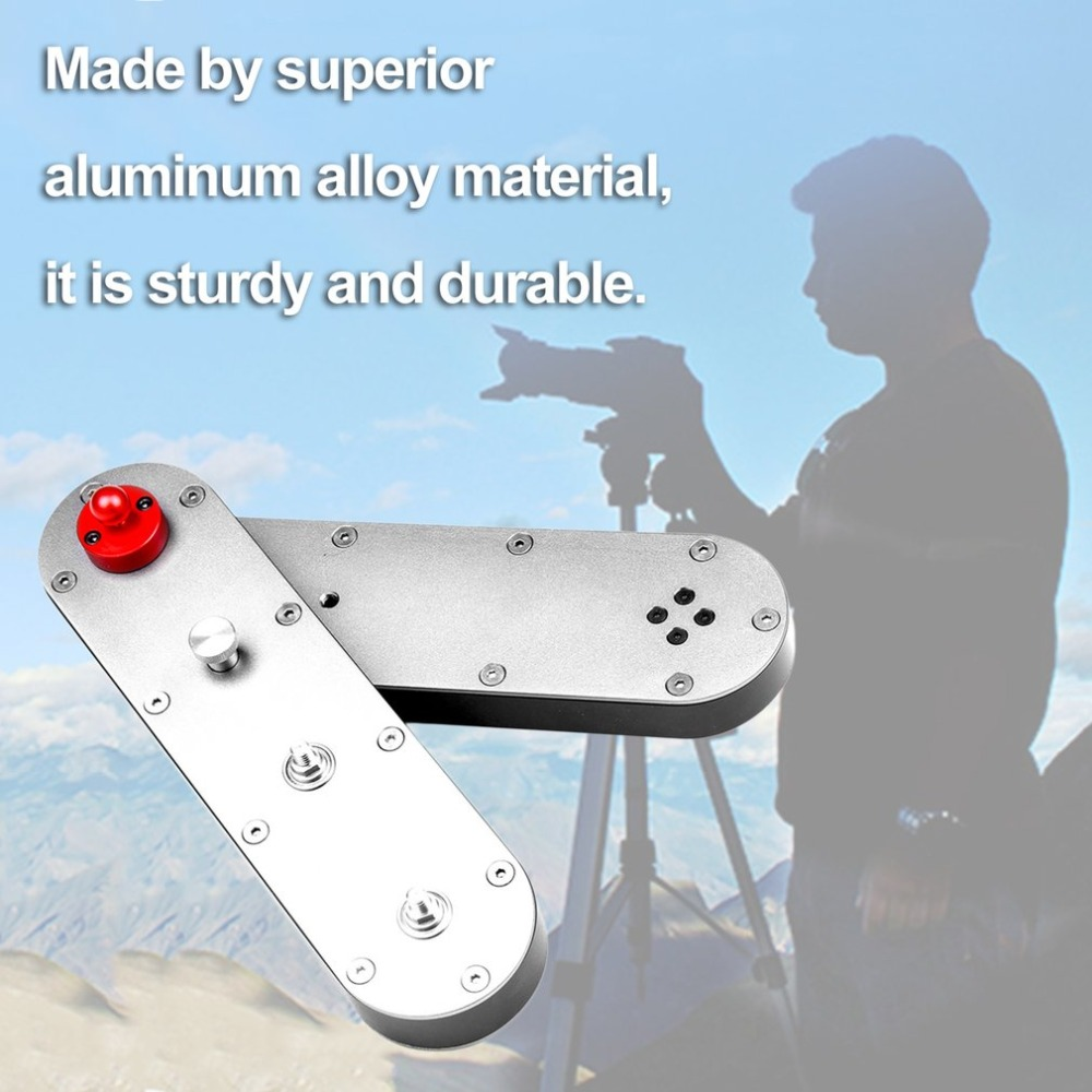 Mini Camera Slider 4 Time Distance 24cm to 70cm Adjustable DSLR Video Dolly Track Rail, Travel Portable Moving Slider Crane