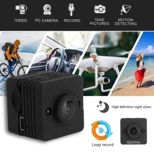 16 GB carte + SQ12 étanche DV caméra 1080 P Full HD sport IR Vision nocturne enregistreur vidéo