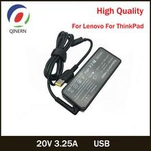 20В 3.25 a 65 Вт ноутбук переменного тока USB зарядное устройство адаптер питания для Lenovo ThinkPad в X301S X230S модели G500 G405 Х1 карбон E431 E531 T440s йога 13