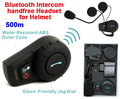 (1set) 500 Meters WaterProof Motorcycle Helmet Intercom Headset Bluetooth Intercom Sports Helmet Kits Brand FDC-01
