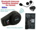 (1set) 500 Meters WaterProof Motorcycle Helmet Intercom Headset Bluetooth Intercom Sports Helmet Kits Brand FDC-01