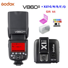 Godox Flash Speedlite V860II GN60 TTL HSS 1/8000s+ Li-ion Battery+ X1T-C/N/S/O/F Flash Transmitter for Canon Nikon Sony Fujifilm цены