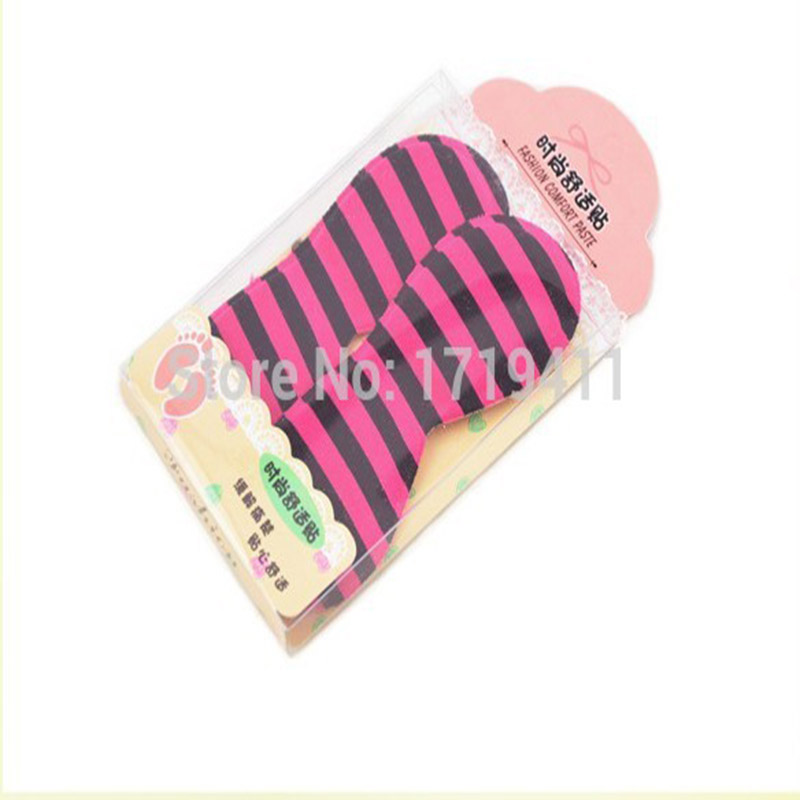 100 Pairs 4D Rearfoot Invisible Silica Gel Sticker Slip-Resistant Sponge Heel insole Foot Shoe Sticker Insole